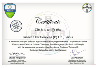 Bayer Cetified Company, Bayer certified pest control services, IKS Bayer certifications